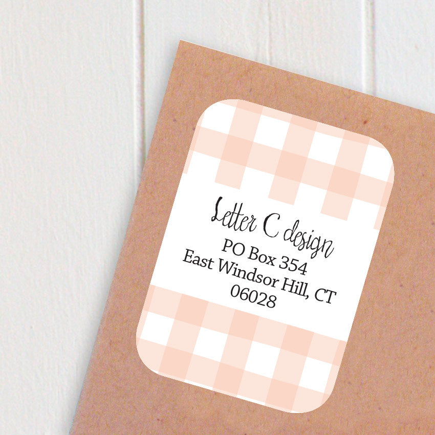 gingham address labels