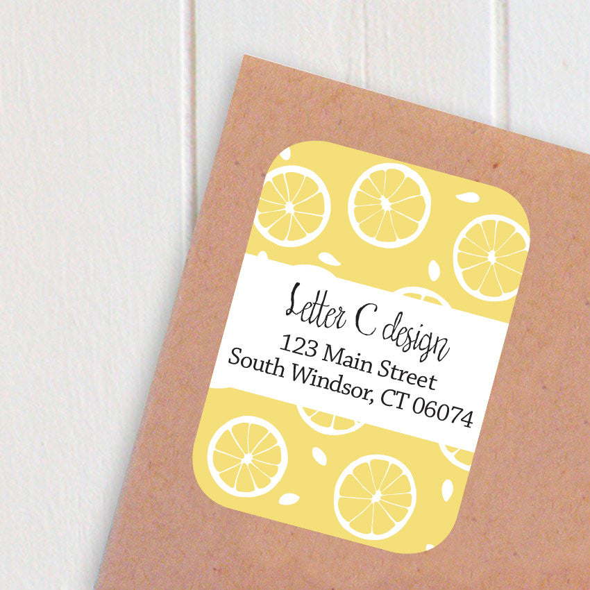 lemons address labels