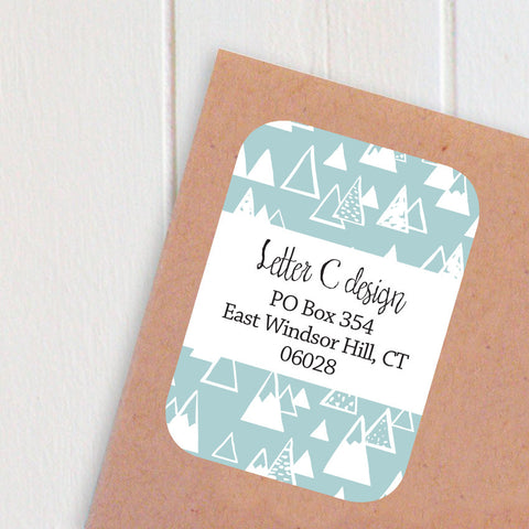 mountain address labels