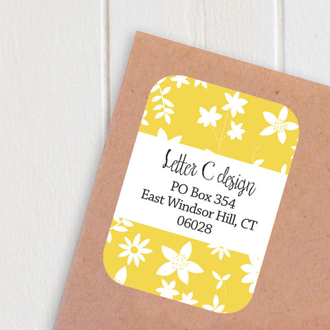 petite flowers address labels