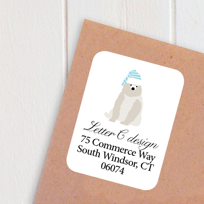 address labels polar bear