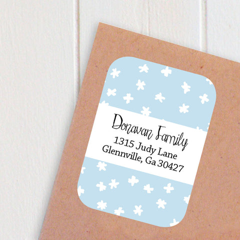 tiny snowflake address labels