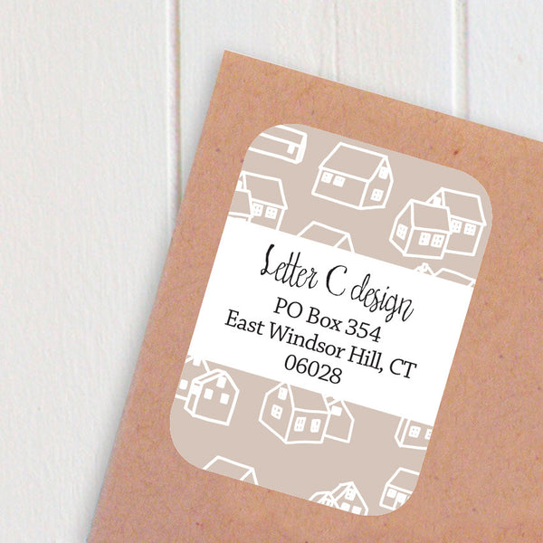 tiny houses address labels