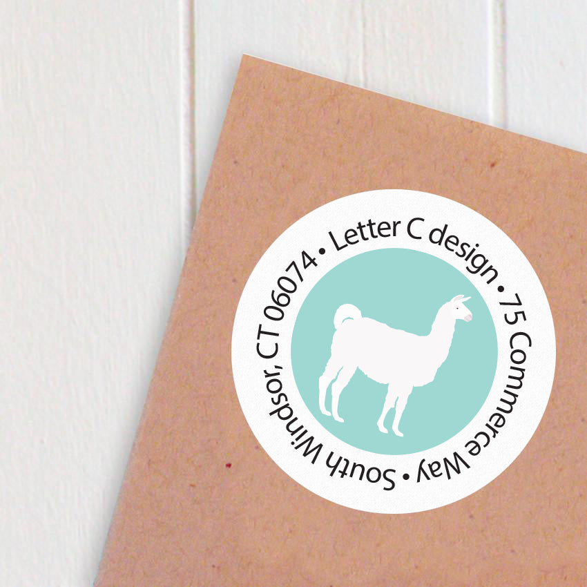 address labels llamas