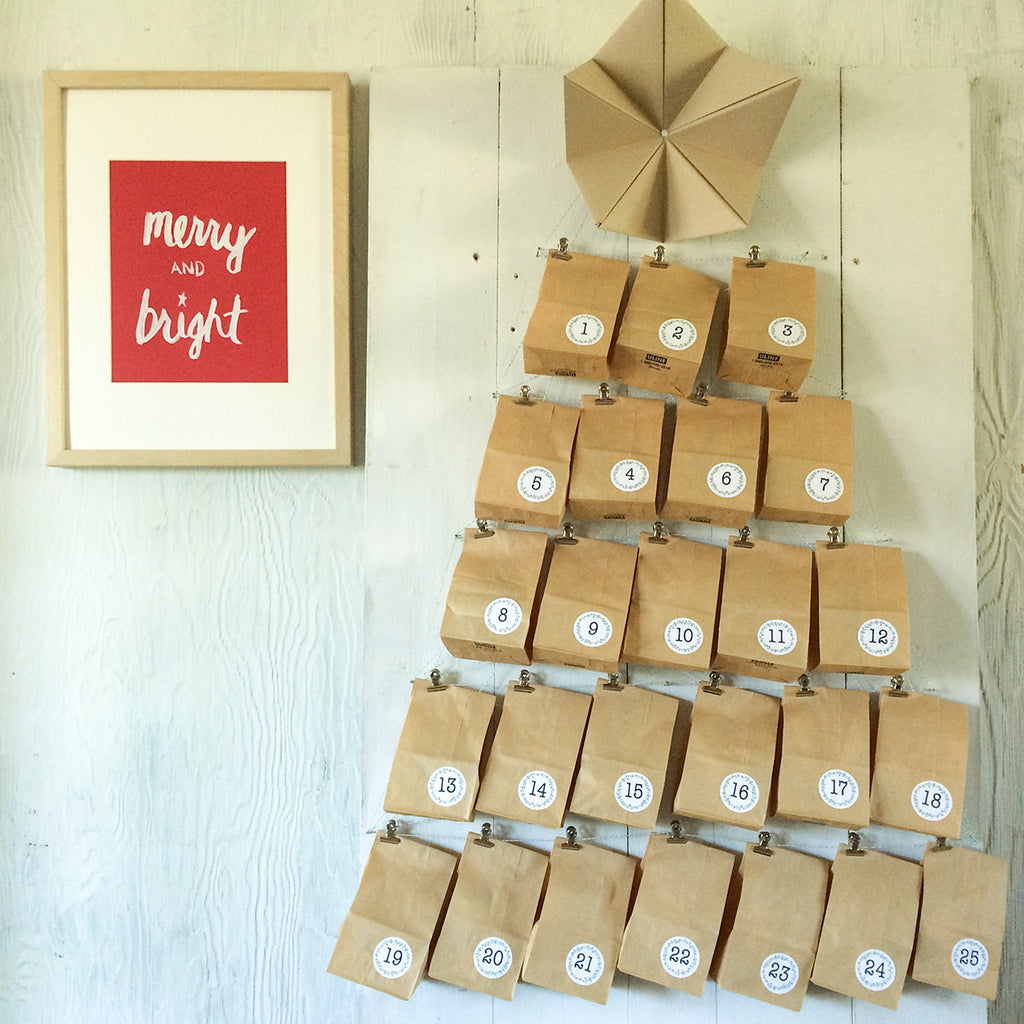 Advent Calendar House Diy : Diy advent calendar kit letter c design