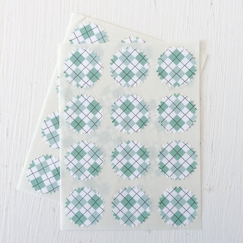 tiny starburst stickers - argyle