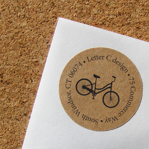 kraft bike address labels
