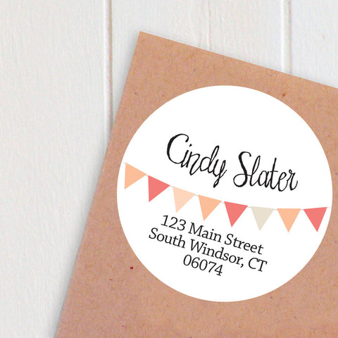 banner circle address labels