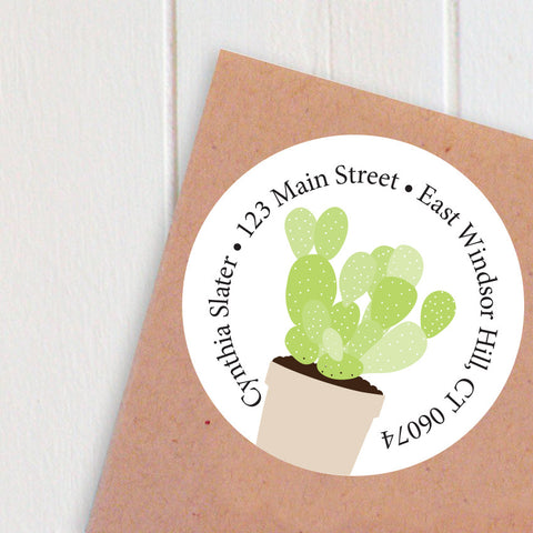 cactus address labels