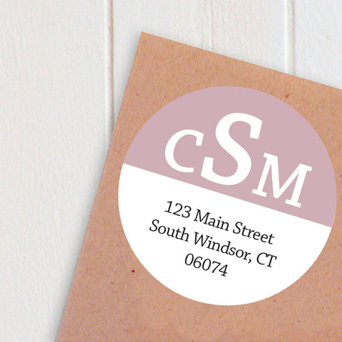 monogram large address labels