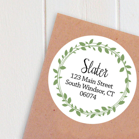 wreath address labels