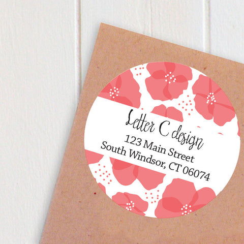 peonies address labels