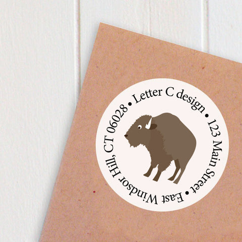 address labels bison