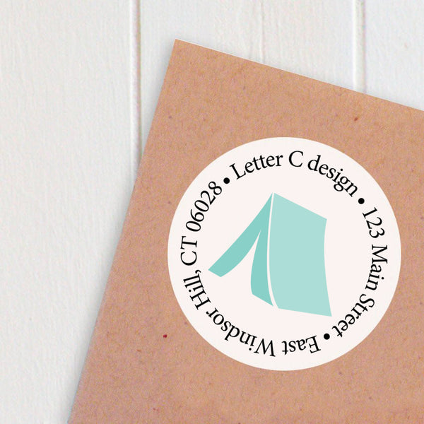 address labels tent