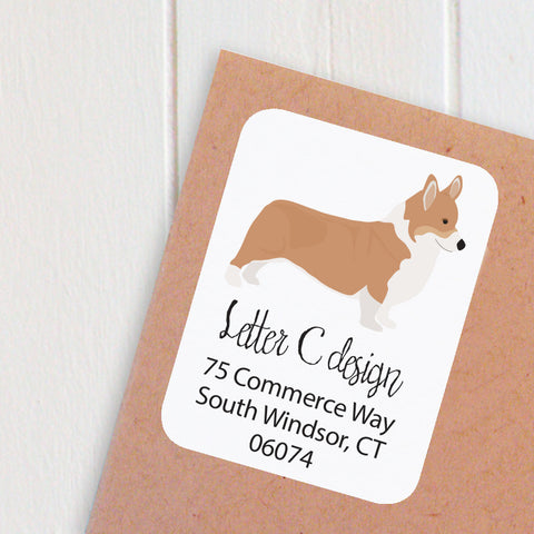 corgi address labels - one