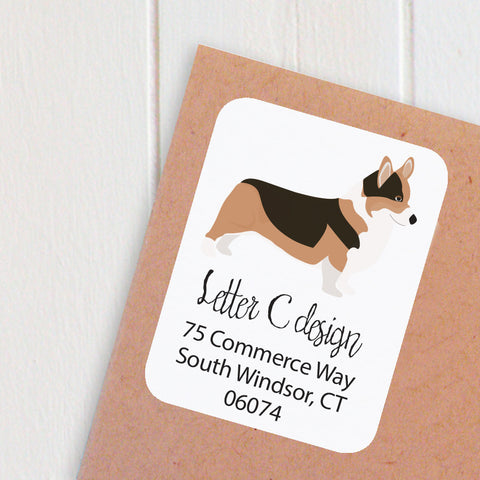 corgi address labels - two