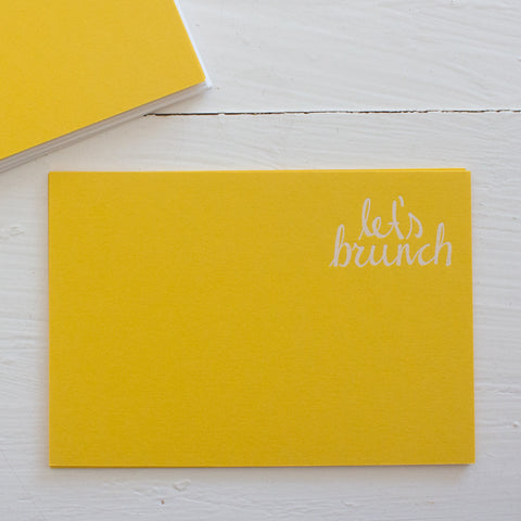 pressed flat notecards - LET'S BRUNCH