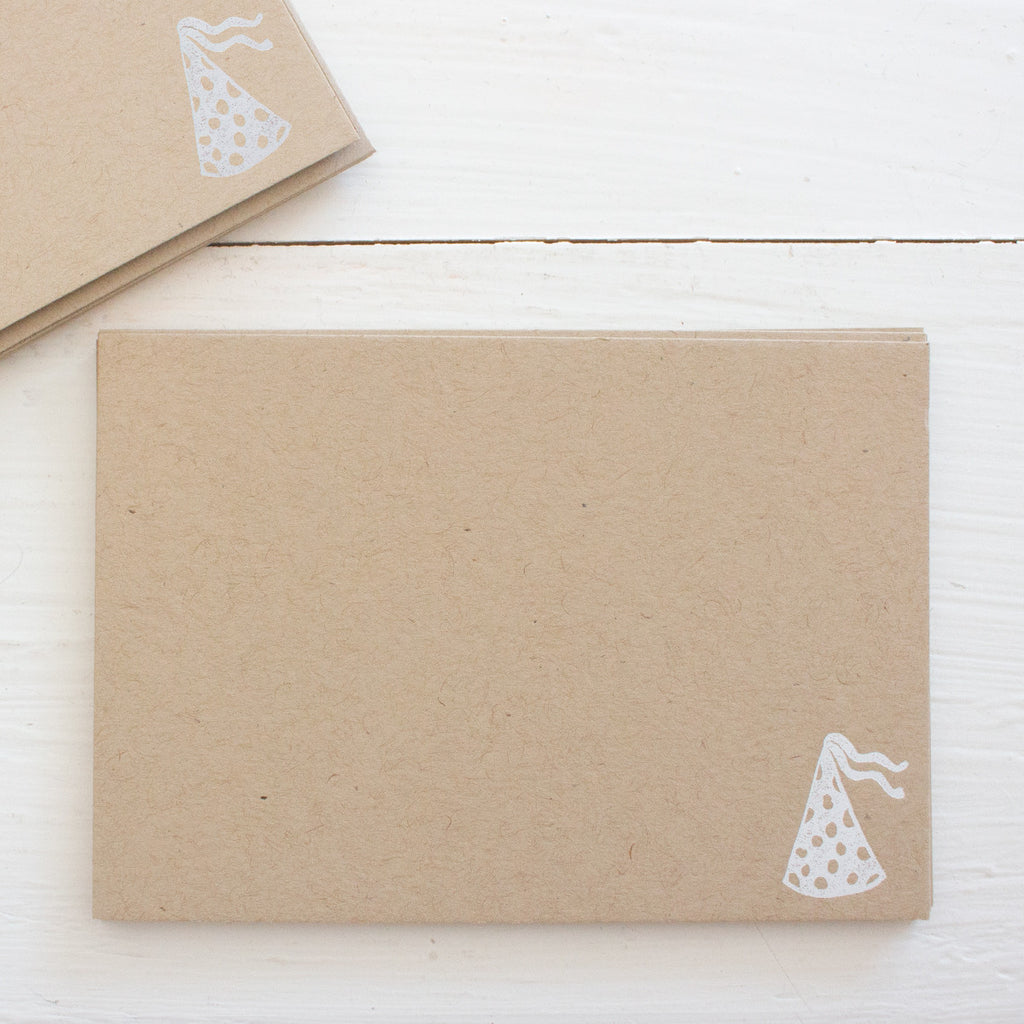 pressed flat notecards - kraft PARTY HAT