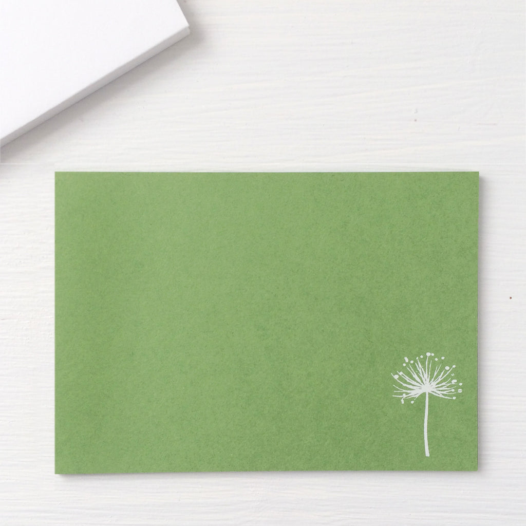 pressed flat notecards - DANDELION