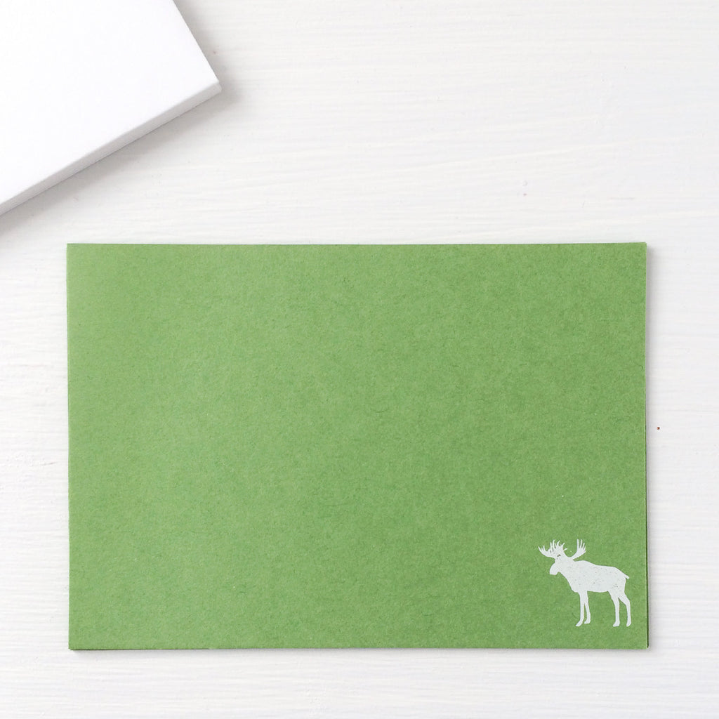pressed flat notecards - MOOSE