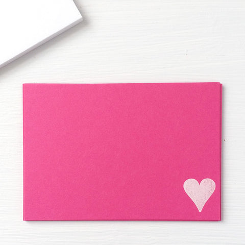 pressed flat notecards - HEART