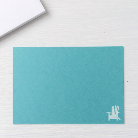 pressed flat notecards - ADIRONDACK CHAIR
