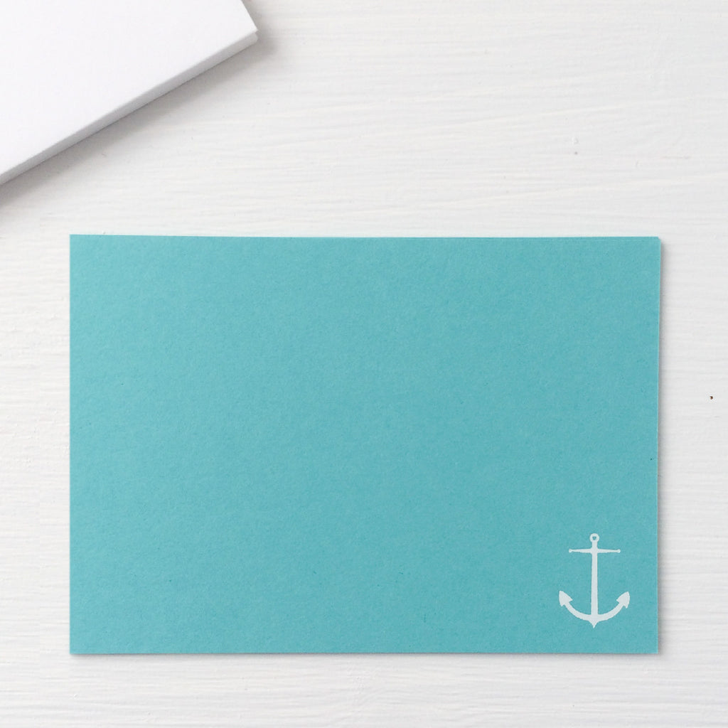 pressed flat notecards - ANCHOR