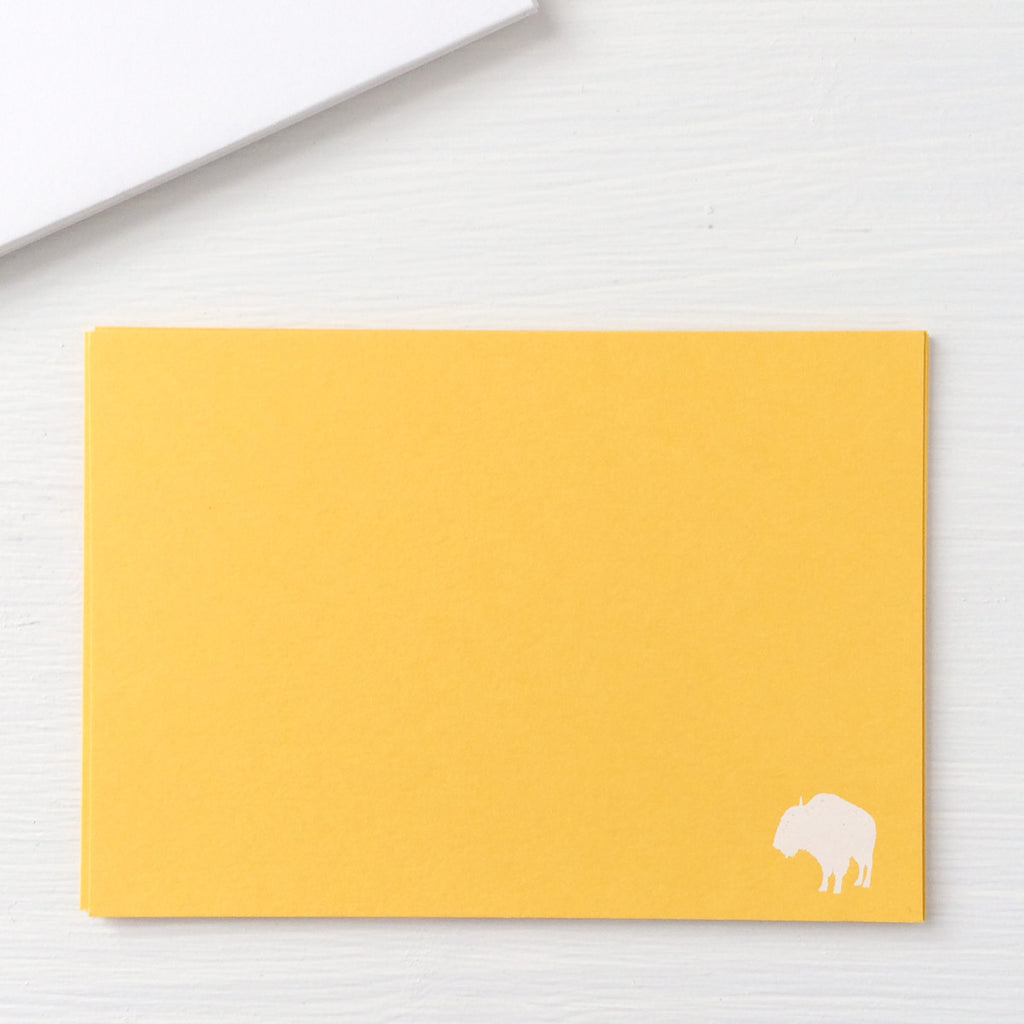 pressed flat notecards - BUFFALO
