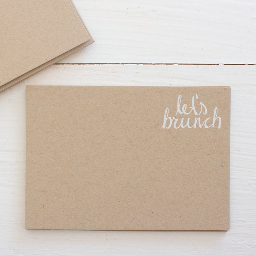 pressed flat notecards - kraft LET'S BRUNCH