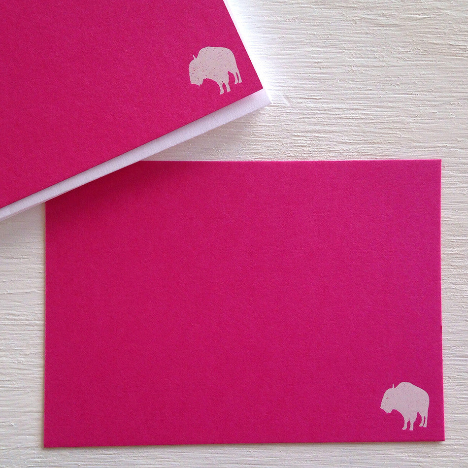 pink buffalo flat notecards