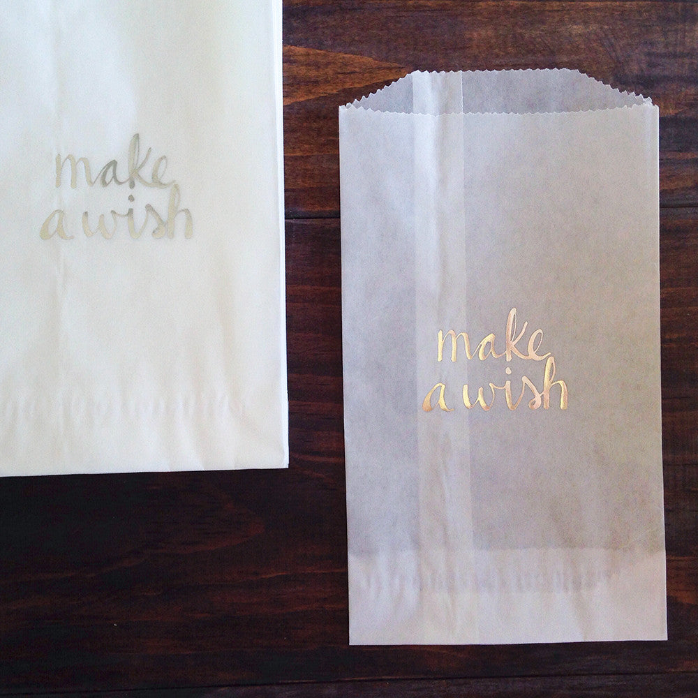 make a wish glassine treat bags