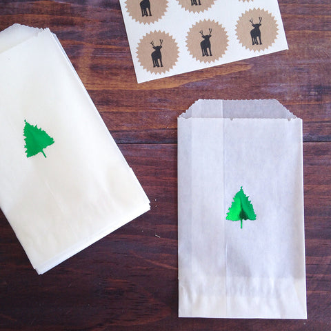 christmas tree glassine treat bags