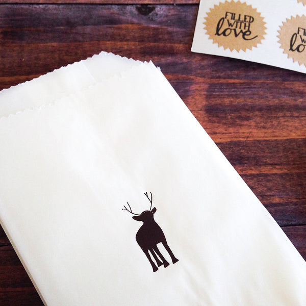 reindeer glassine treat bags