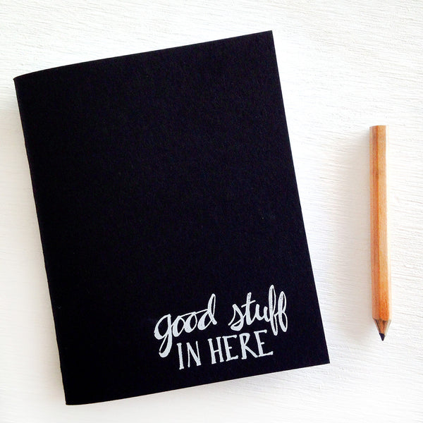 good stuff in here black pocket journals