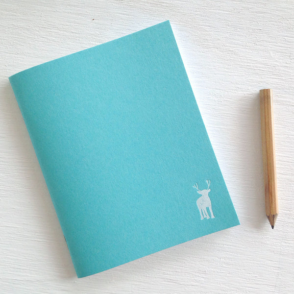 teal reindeer pocket journals