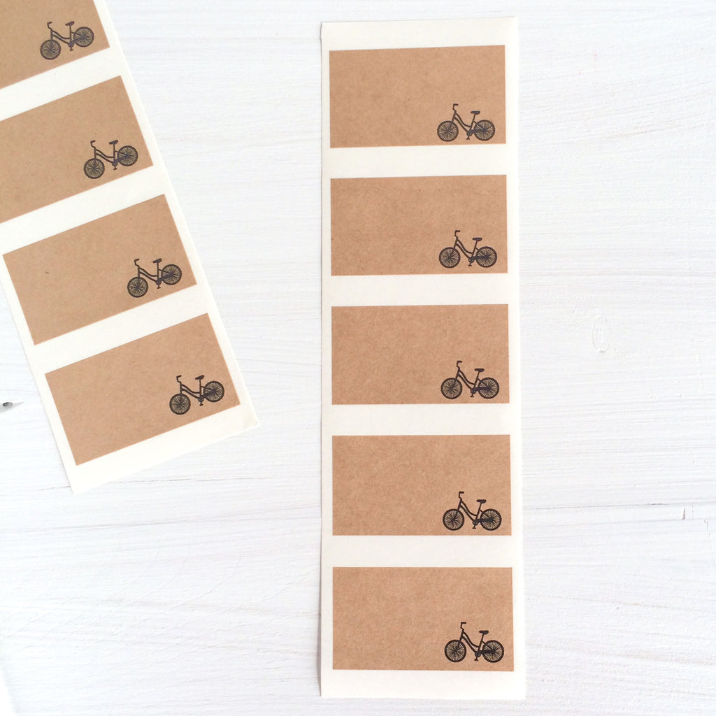 kraft labels - bike
