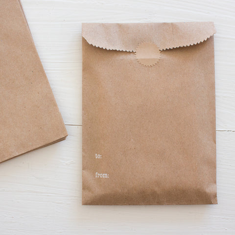 to and from kraft bags