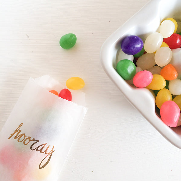 hooray glassine treat bags
