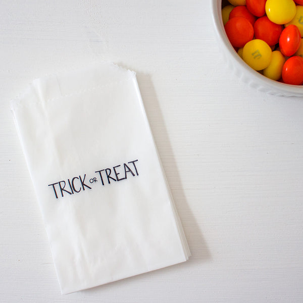 trick or treat glassine treat bags