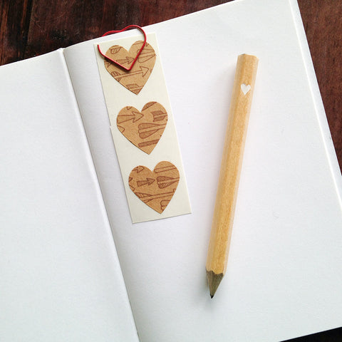 tiny heart mini pencils