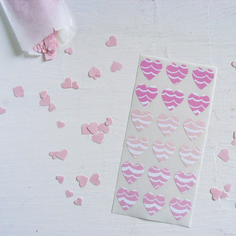 mix and match mini heart stickers