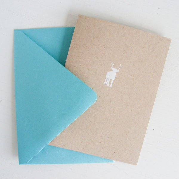 kraft reindeer folded notecards