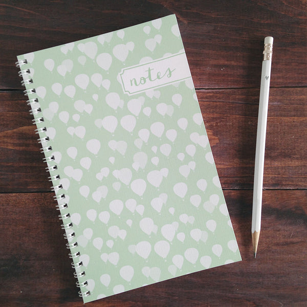 hot air balloon personalized travel notebook