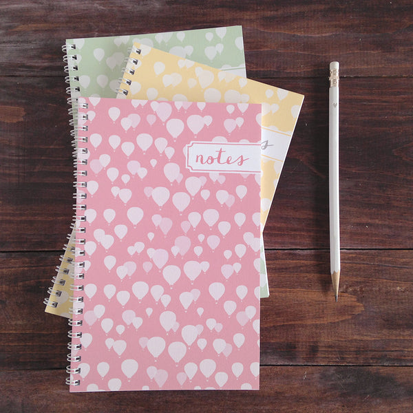 set of 3 hot air balloon personalized travel notebooks
