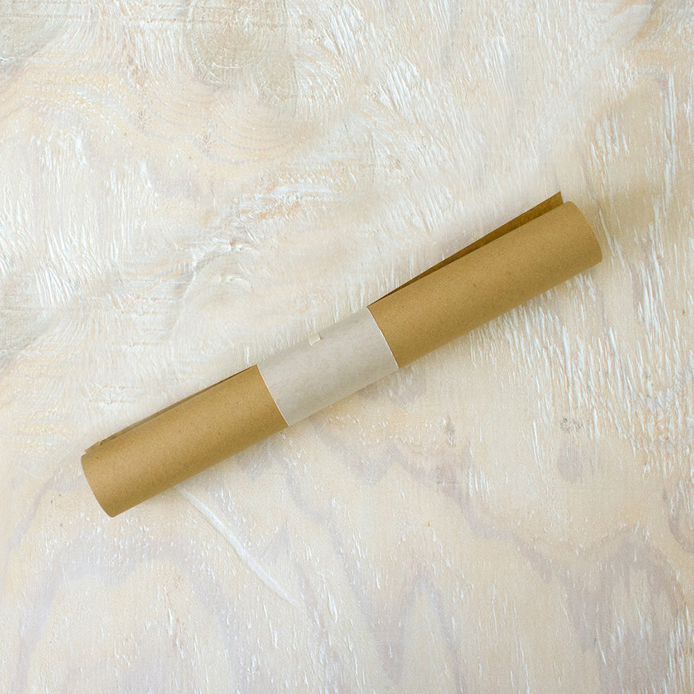 recycled kraft gift wrap roll - 12 inches by 25 feet
