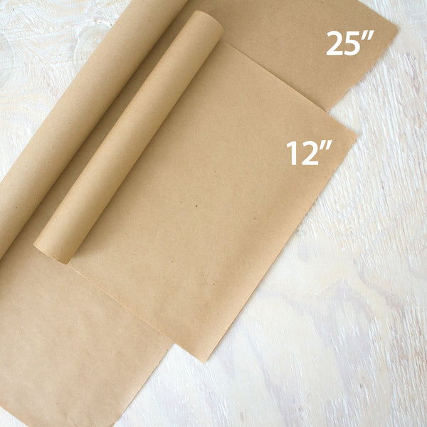 recycled kraft gift wrap roll - 24 inches by 25 feet