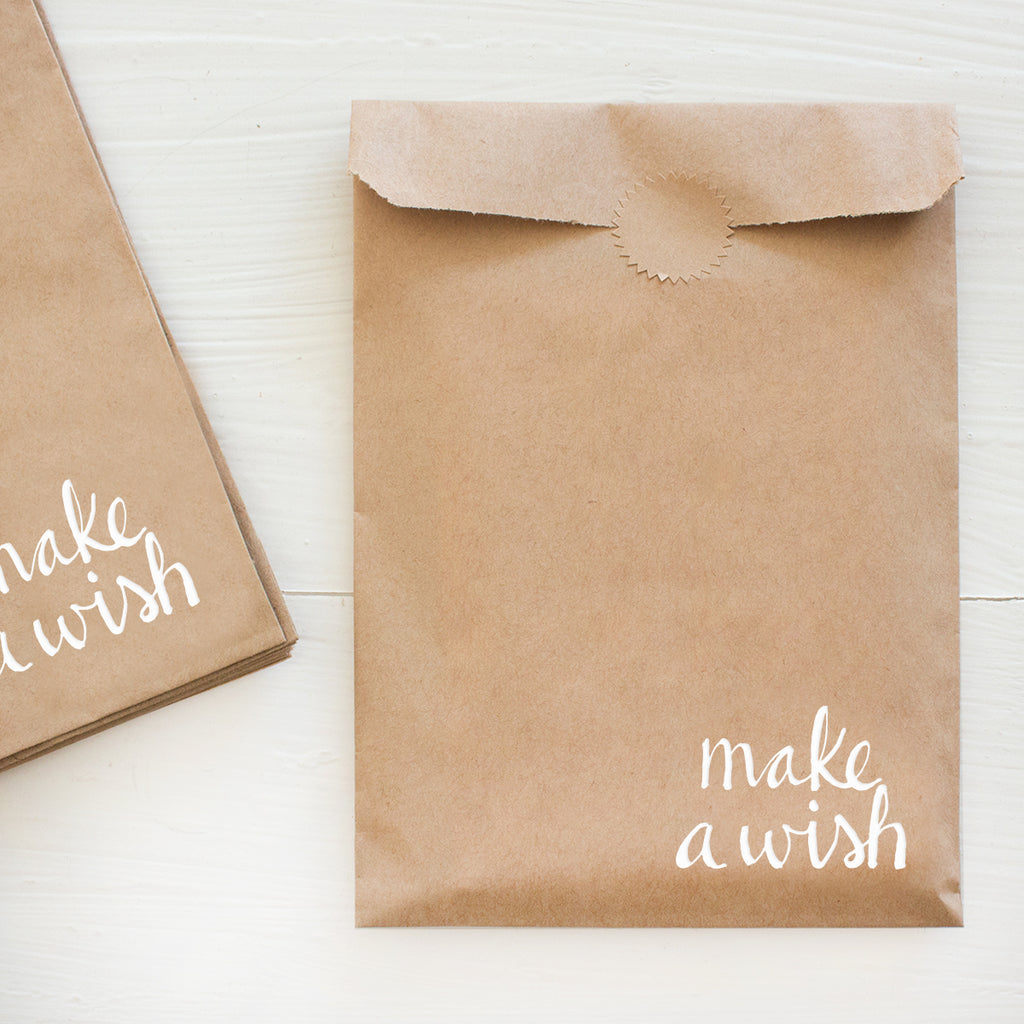 make a wish kraft bags