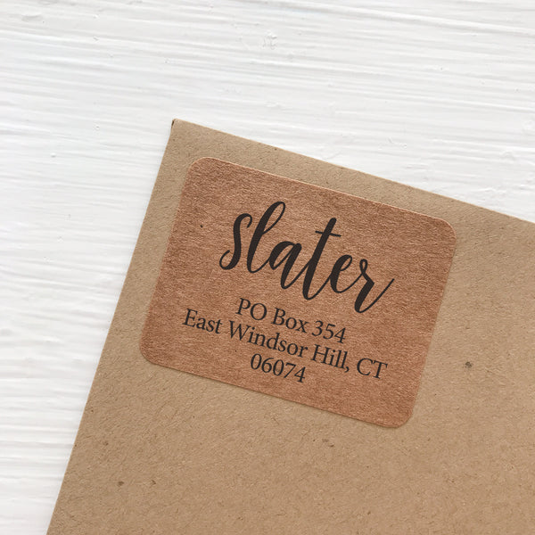 kraft address labels