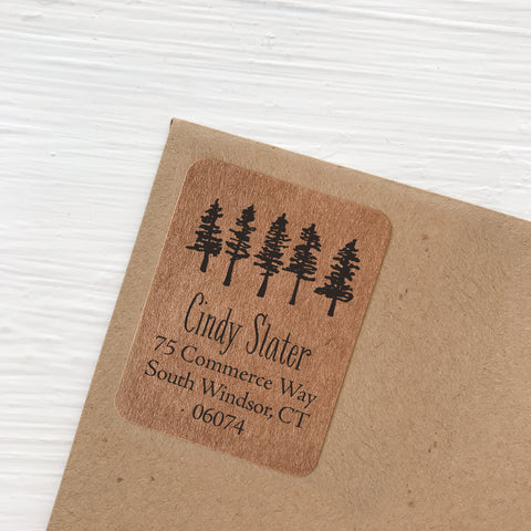 kraft address labels little forest