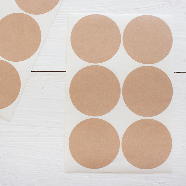 2 inch circle stickers - blanks